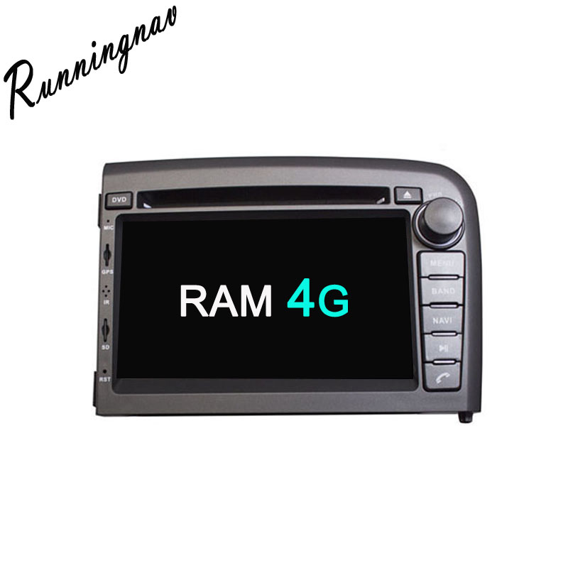 Android 8.0 Octa base Android RAM 4G ROM 32G Android Fit VOLVO S80 1998-2006 Lecteur DVD de Voiture Navigation GPS Radio