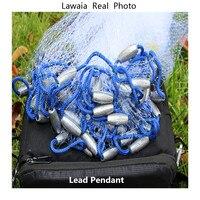 Lawaia рыболовная сеть с свинцовой подвеской рыболовная сеть свинцовая литая сеть с кольцом американский стиль литая сеть метательный инстру...