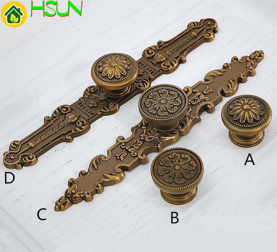 Cabinet Knob Drawer Pull Dresser Knobs Back Plate Black Antique Gold Brass