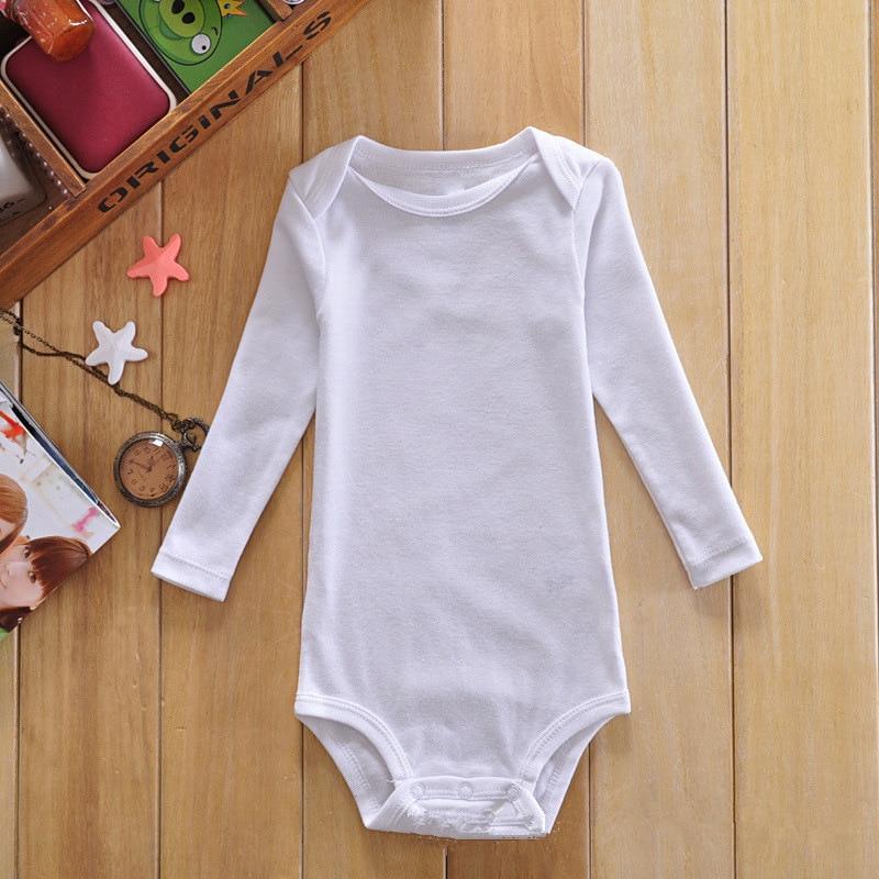 Wholesale Baby Clothes Newborn Baby Cotton White Bodysuits Long ...