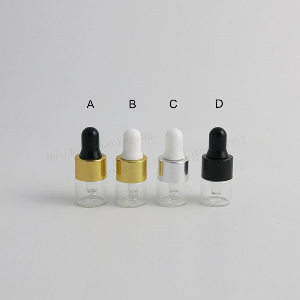 100 x 1ML Small Cute Glass Dropper Bottles For Essential Oil Mini  Perfume Sampling portable bottles Mini Perfume Drop Vials