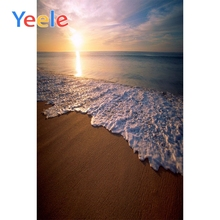 Yeele Seaside Waves View Photographic Wedding Backdrops Sunset Scenery Photography Backgrounds Customized Decor For Photo Studio