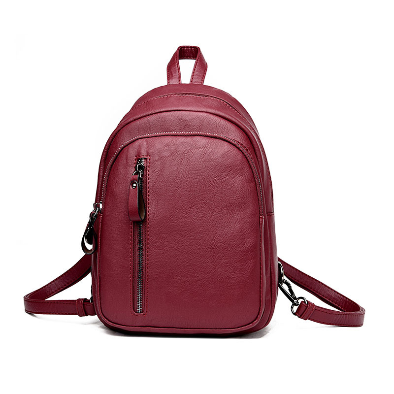 Fashion Zipper Leather Small Women Backpack School Bag for Teenage Girls Ladies Schoolbag Daily Backpack Travel Mochila Feminina chameleon backpack fashion women s backpack cartoon men women school bag notebook backpacks for teenage girls mochila feminina