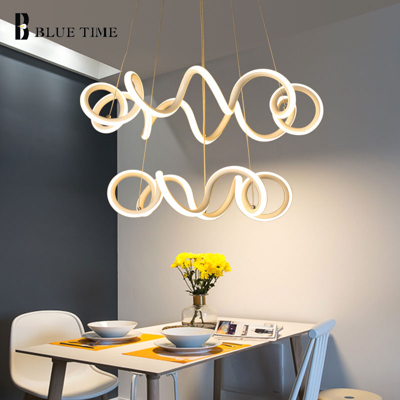 Simple Led Pendant Light Hanging Lamp For Living Room Dining Room Led Lustre White Led Pendant Lamp Indoor Home Lighting Fixture
