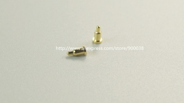 10 pcs Spring Loaded Probe Pin Connector Diameter 2.0 mm x 4.0 mm height SMT PCB Brass Gold 1u 50G force Re-flow Solder Pogo Pin