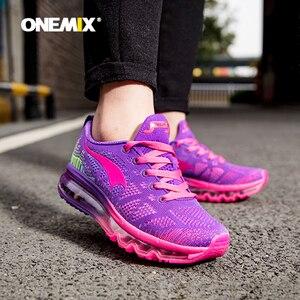 Image 1 - ONEMIX 여성 운동화 통기성 제직 운동화 에어 쿠션 2020 운동화 여성 테니스 신발 라이트 zapatos de mujer