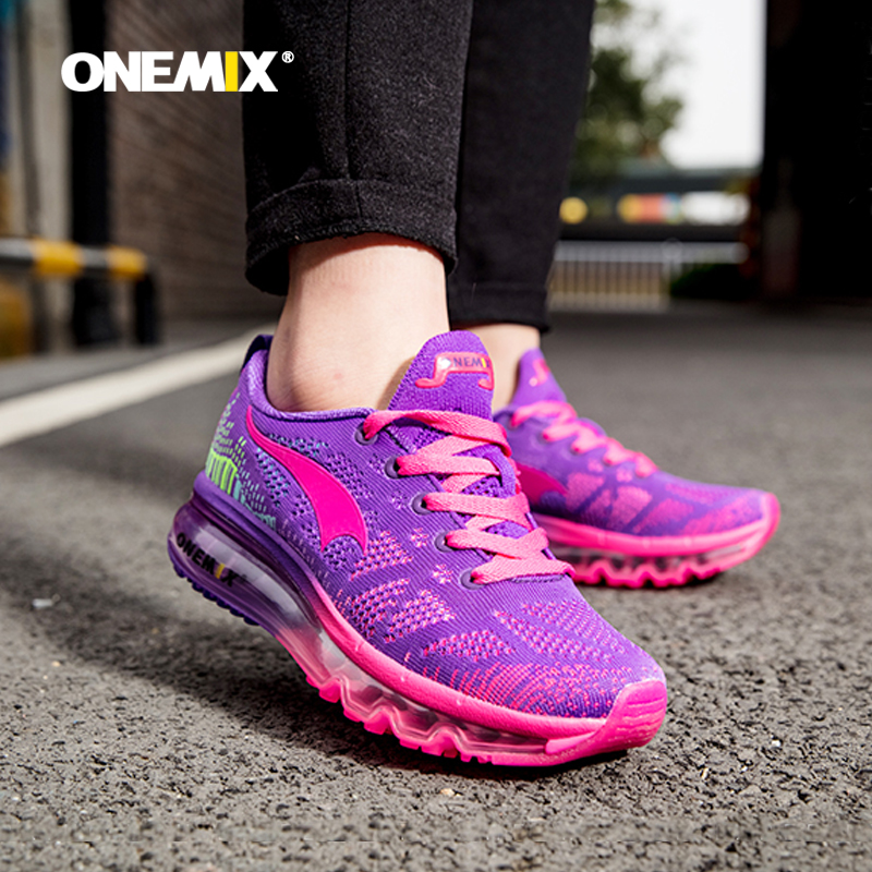 ONEMIX Running Shoes Women Sport Shoes Breathable Weaving Air Cushion Sport Shoes Female Training Shoes Sneakers Women Light