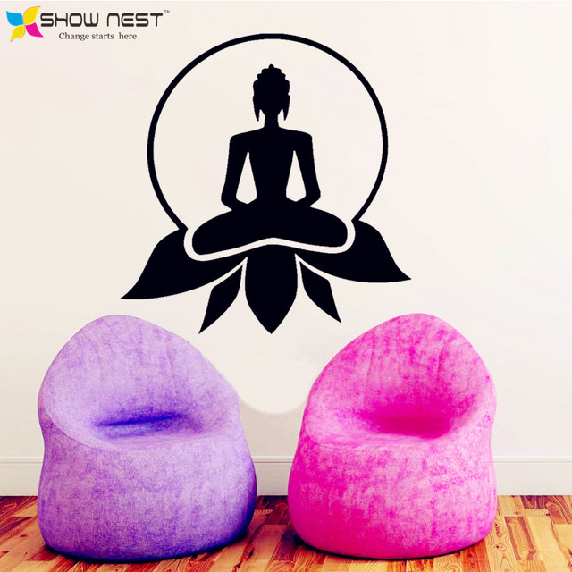 Yoga Style Wall Decal Lotus Buddhism Zen Meditation Home Decor On The
