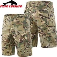 PureLeisure брюки карго мужские тактические военные шорты S-3XL летние уличные спортивные походные охотничьи рыболовные дышащие шорты