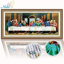 Em forma especial, pintura diamante bordado, última ceia, religioso, 5d diamante, ponto cruz, feriado, presente, decoração da parede