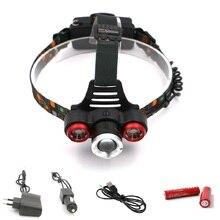 Теплый белый R2 XML T6 светодиодный головной светильник и возможностью регулирования интенсивности и дальности свечения налобный фонарь USB Перезаряжаемые вспышка светильник Кемпинг Фонари 18650 головной фонарь светильник