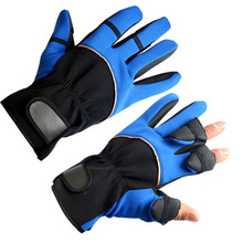 Free Size New Winter Fishing Gloves 3 Fingers Cut Outdoor Sports Warm Waterproof Finger Expose Hide