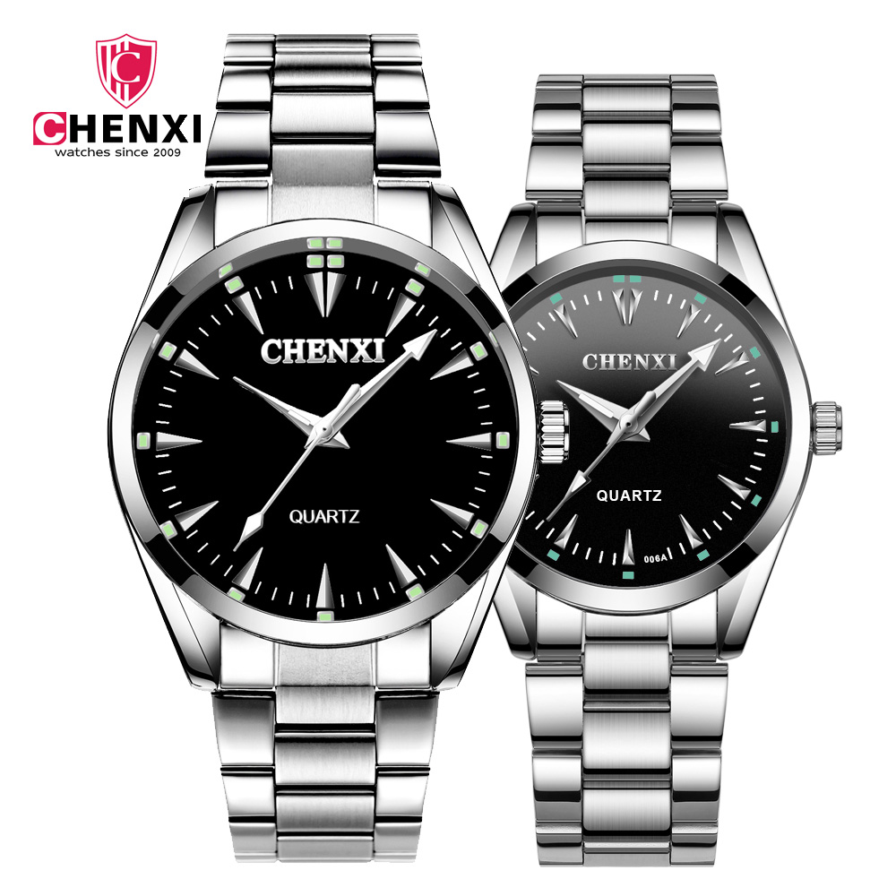 CHENXI 2019 New Couple Watch Hight Quality Stainless Steel Belt Quartz Watch Business Wrist Watch Couple Gift For Men Womens