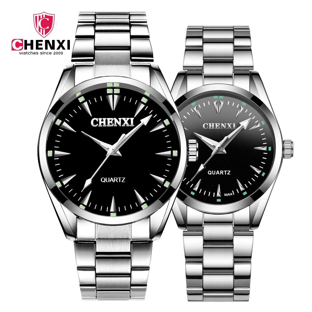 CHENXI 2019 New Couple Watch Hight Quality Stainless Steel Belt Quartz Watch Business Wrist Watch Couple Gift For Men Womens