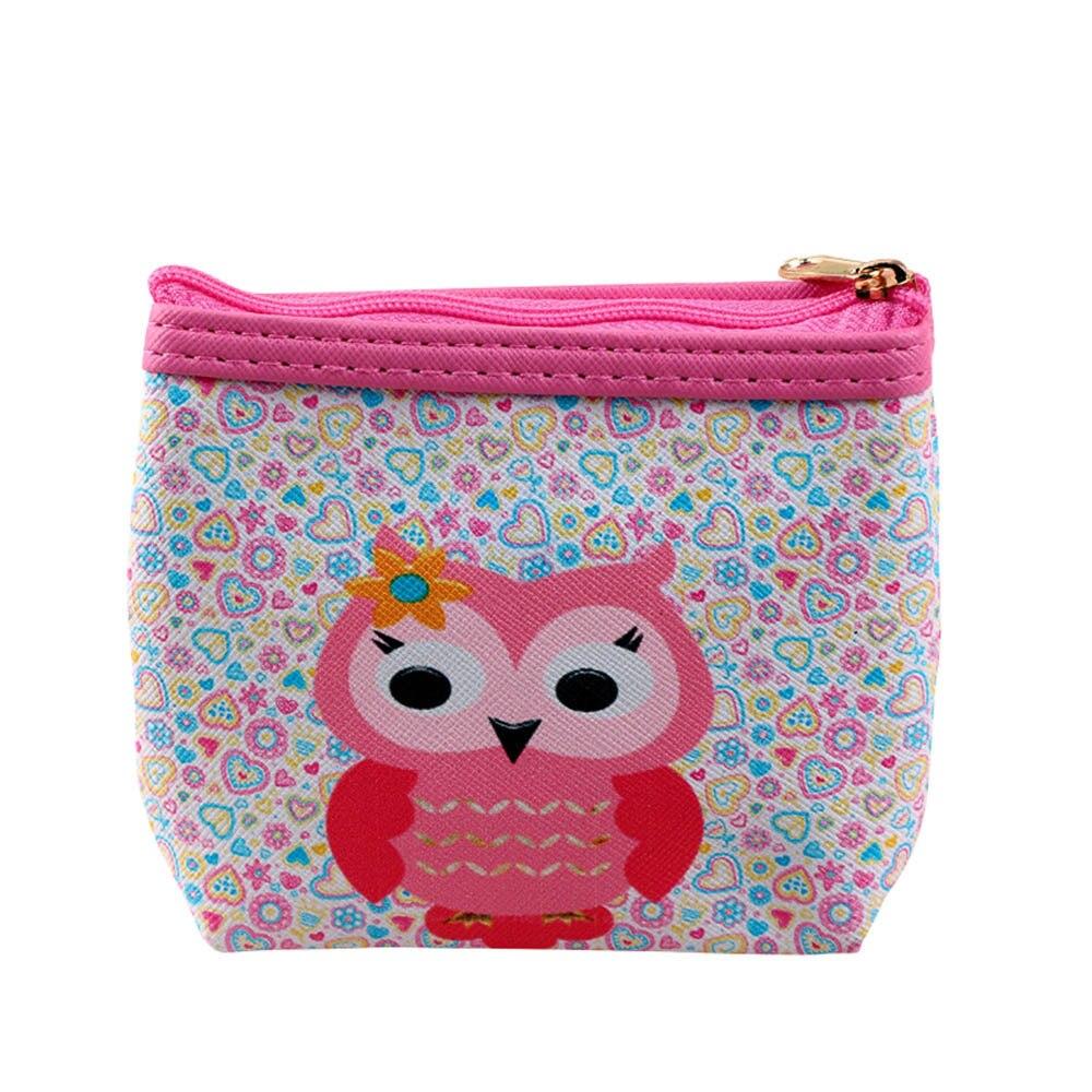 Womens Owl Wallet Cute Purses For Girls Card Holder Coin Purse Clutch Handbag Small Change Purse bolsa kawaii