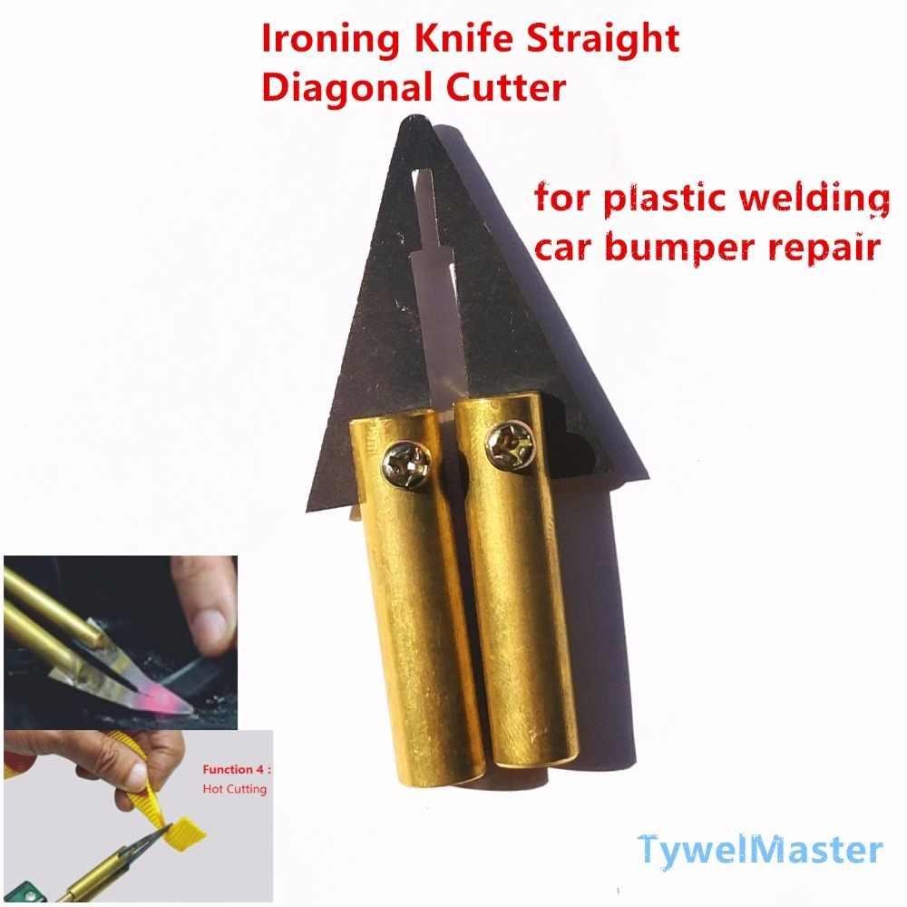 Пластиковый инструмент для ремонта, инструмент для ремонта, автомобильный бампер, сварка, глажка, прямой диагональный резак