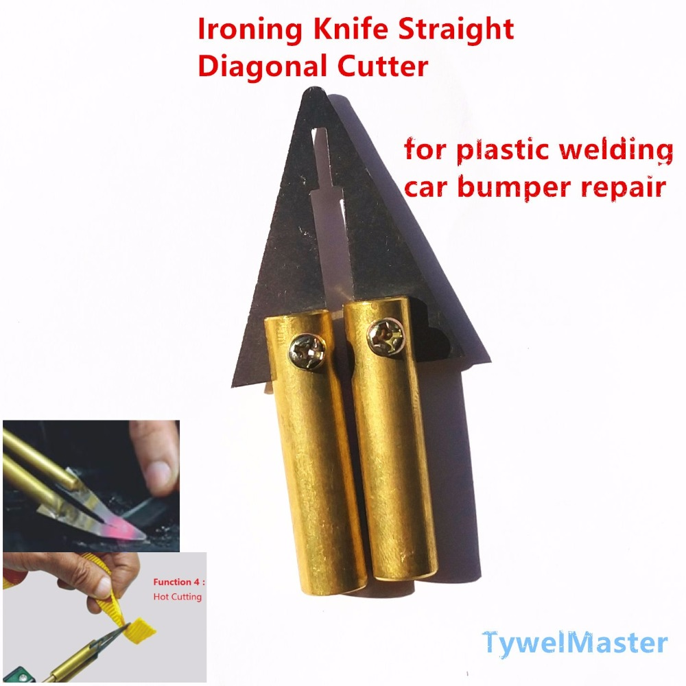 Hot Stapler Car Auto Bumper Weld Gun Plastic Repair Tool Accessory Ironing Knife Straight Diagonal Cutter