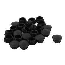 Blanking End Caps 13mm Dia Plastic Round Tubing Tube Inserts 24 Pcs Plastic Furniture Leg Plug Blanking End Caps Insert Plugs(China)