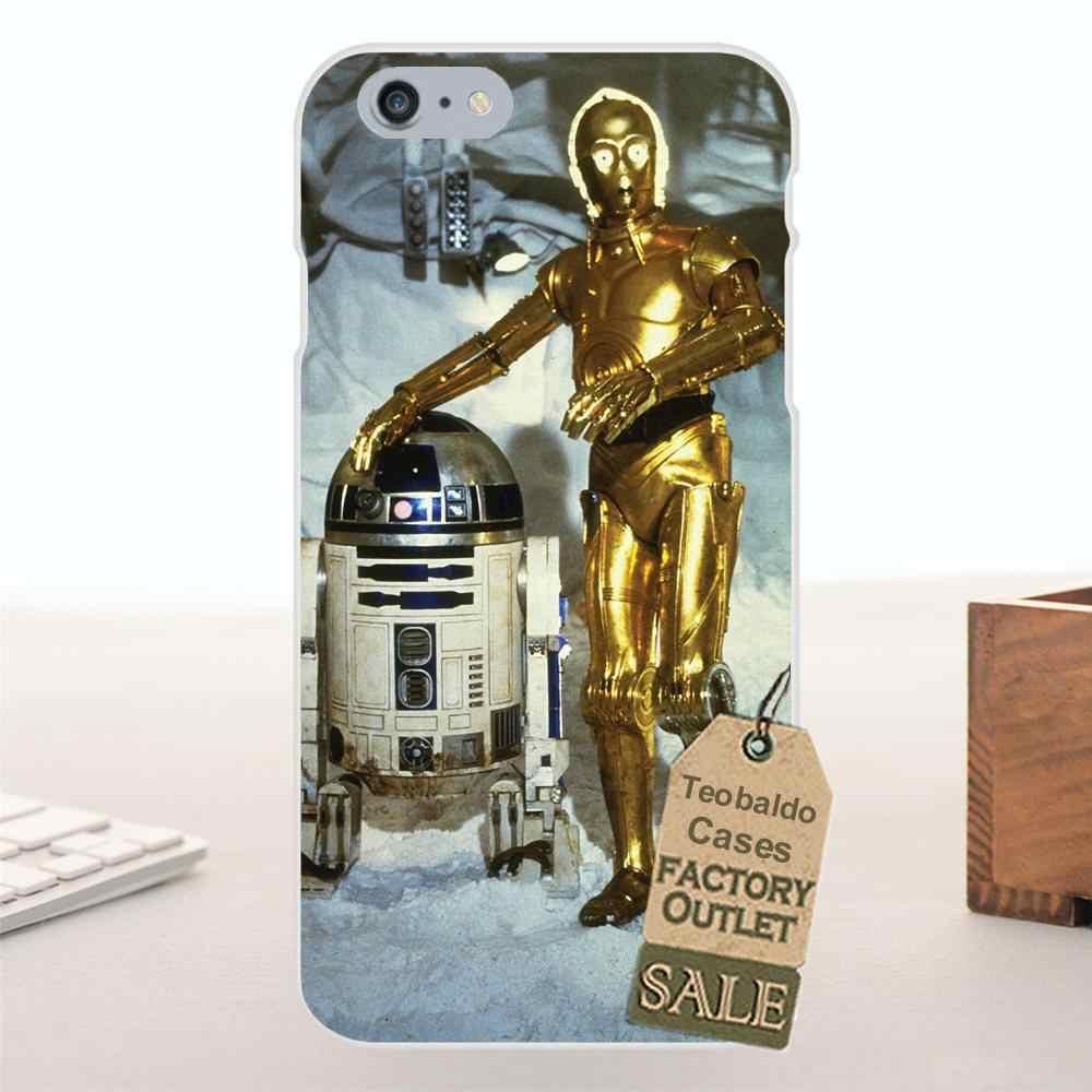Lembut TPU Fashion Star Wars Asli Lineup R2d2 C3po untuk Apple iPhone X 4 4 S 5 5C Se 6 6 S 7 8 PLUS For LG G4 G5 G6 K4 K7 K8 K10