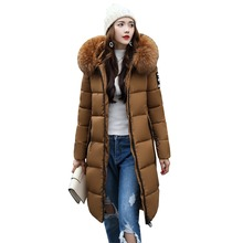 2017 New Winter Jacket Women long Slim Warm Female Fashion Cotton Coat Outerwear Thick Warm Winter Parkas Plus Size M-3XL 3L99