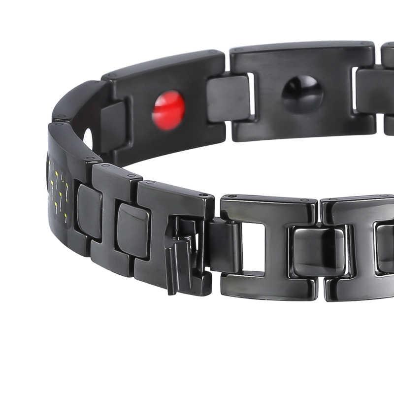 Hottime Титан оздоравливающий магнитный браслет Caron волокна 4 в 1 элементы высокое качество роскошные браслеты и Браслеты подарок для мужчин и женщин;