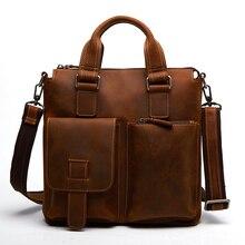 Neue Retro Männer Tasche Aus Echtem Leder Schulter Messenger Bags A4236