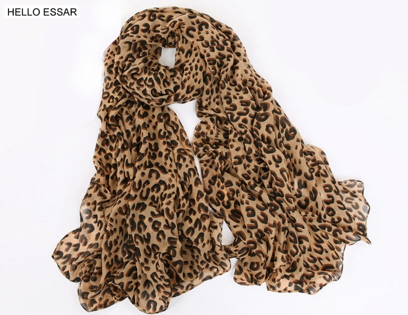 Women Chiffon Scarf 150*45cm Thin Style Scarfs Print Cat Star Leopard Shawls And Scarves Best Party Gift 22009