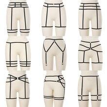 Женский сексуальный ремень-подвязка, эластичный ремень для ног, готический ремень для чулок, нижнее белье, ремень для ног