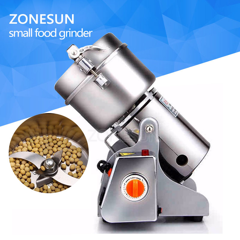 New 220V Stainless Steel Home Electric Mill Herb Grinder Coffee Beans Grinding Grain Cereal Mill Powder Machine Flour 600g great value food grinder stainless steel swing milling machine small powder grinding machine home commercial electric flour mill