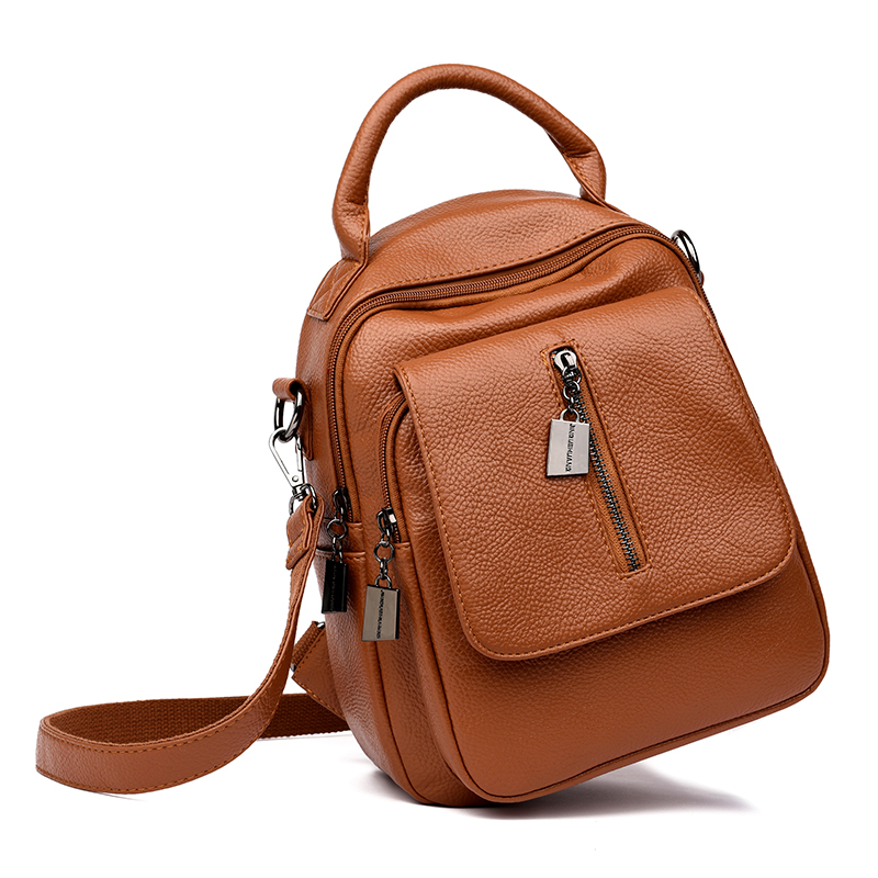 Casual Multifunction Women Backpack High Quality Leather Backpacks for Teenage Girls Female School Shoulder Bags Bagpack mochilaCasual Multifunction Women Backpack High Quality Leather Backpacks for Teenage Girls Female School Shoulder Bags Bagpack mochila