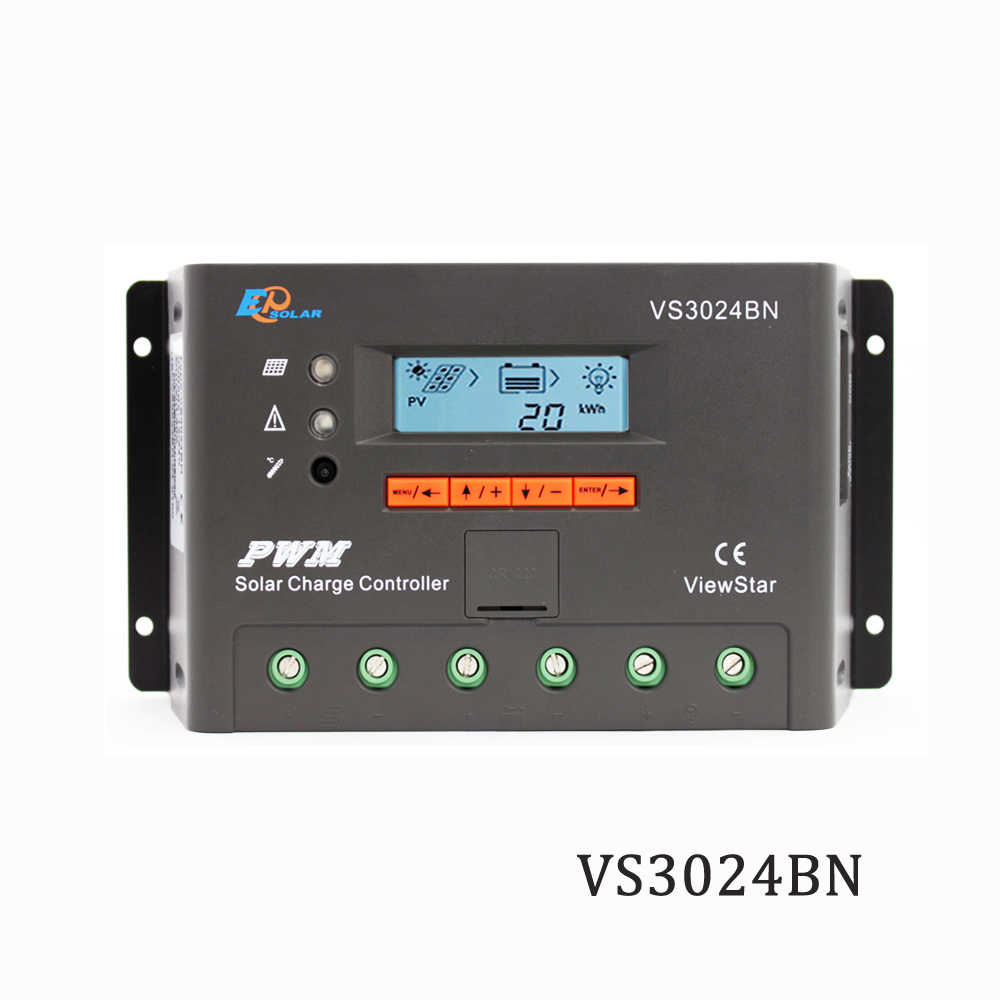 Viewstar VS3024BN 30A 12V 24V EP PWM Programmable Solar Panel Charger Charger Batterys support MT50 WIFI Bluetooth elog01Viewstar VS3024BN 30A 12V 24V EP PWM Programmable Solar Panel Charger Charger Batterys support MT50 WIFI Bluetooth elog01