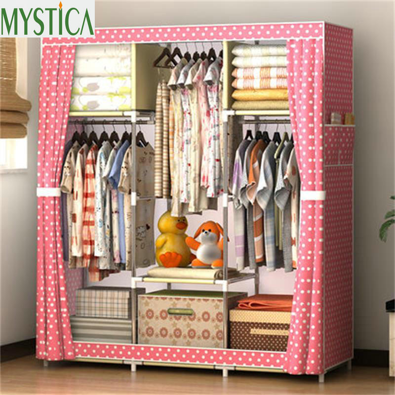 2019 NEW Non-woven Wardrobe Closet Large And Medium-sized Storage Cabinets Simple Folding Reinforcement Receive Stowed Clothes2019 NEW Non-woven Wardrobe Closet Large And Medium-sized Storage Cabinets Simple Folding Reinforcement Receive Stowed Clothes