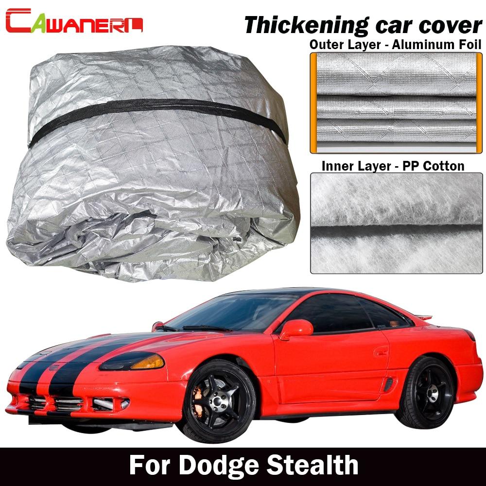 Cawanerl pour Dodge Stealth bâche de voiture en coton épais imperméable Anti-UV pare-soleil pluie grêle neige empêcher bâche de voiture extérieure