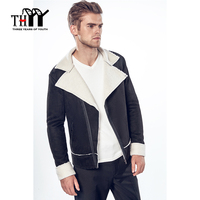 Autumn Winter Jackets Men Outerwear Coats New Caped Leader Son Compound Lamb Wool Young Men S