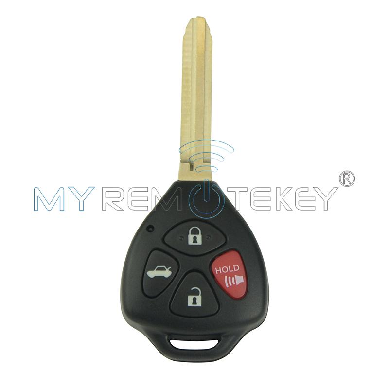 Автомобильный Дистанционный ключ 4 кнопки чип toy43 4d67 для