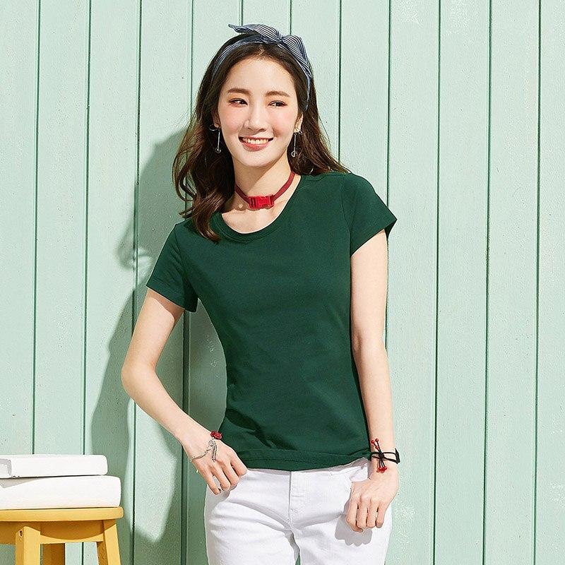 O-Neck Short Sleeve Female T-shirt
