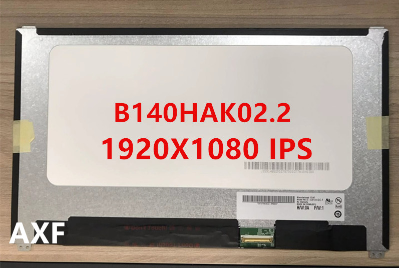 B140HAK02.2 B140HAK02.3 LED screen LCE display with touch matrix for laptop 14.0 FHD 1920X1080 replacement