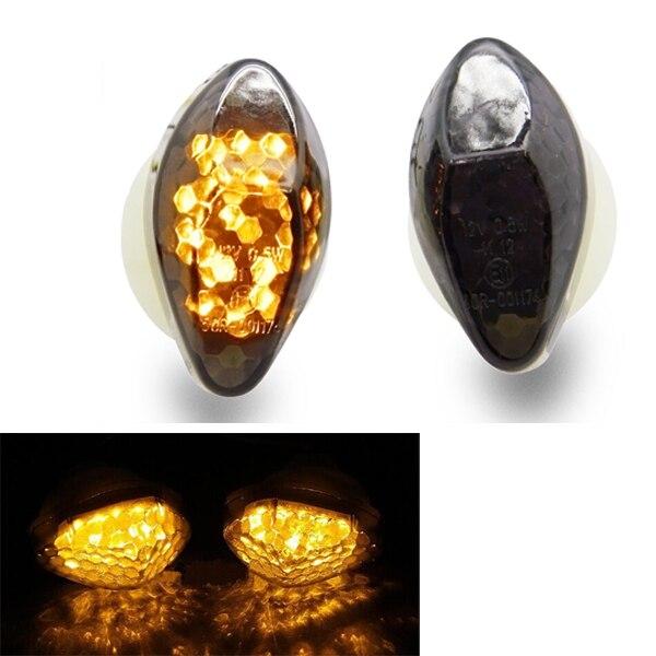 Motorcycle LED Flush Mount Blinker Smoke Turn Signals Light For Honda CBR 600 F4 F4i 1999 2000 2001 2002 2003 2004 2005 2006