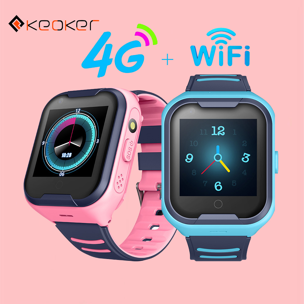 Keoker 2019 Kids Smart Watch 4G GPS WIFI Tracking Video Call Waterproof SOS Voice Chat Children Watch Care For Baby Boy Girl