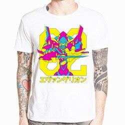 Neon Genesis Evangelion T shirt atak anioł EVA 01 02 Anime koszulka z krótkim rękawem O-Neck Tshirt dla mężczyzn HCP4486 4