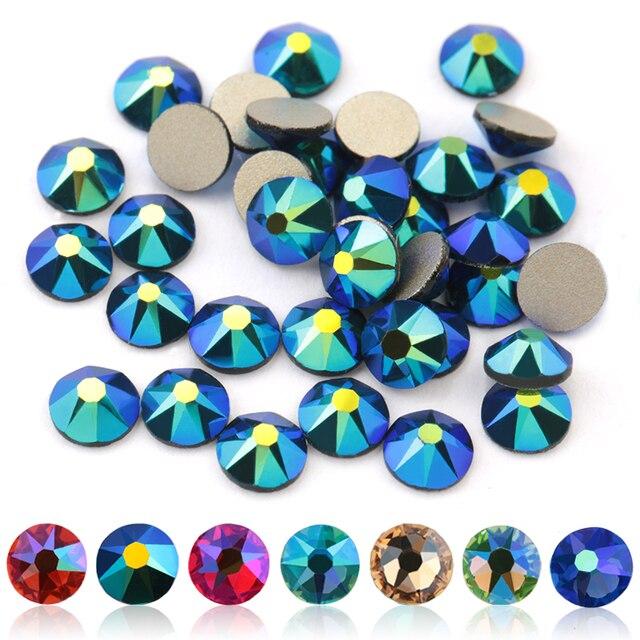 QIAO 2088 Cut SS16 Many Colors Flat back nail art deco non hotfix rhinestones for Rhinestone & Decoration glue on stone 1