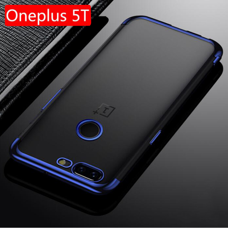 Oneplus 5T Case Luxury Silicon Plating TPU Back Cover For Oneplus 5T Phone Case one plus 5t A5010 Clear ultra thin Protective
