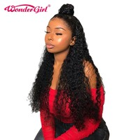 Remy Water Wave 360 Lace Frontal Wig Pre Plucked With Baby Hair 150% Density Peruvian Lace Front Human Hair Wigs Wonder girl