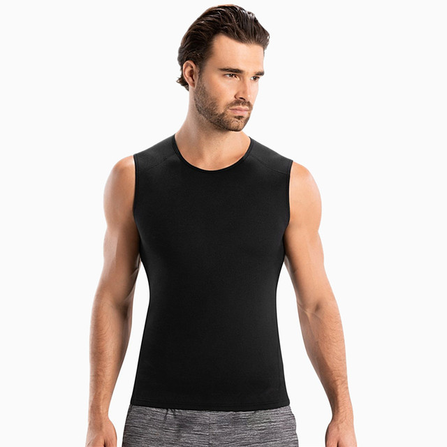 Hommes de Sauna Gilet Ultra Sueur Chaude Shapers Shirt Homme Noir Redu Shaper Hommes de Redu Shaper Minceur Taille Formateur Corsets shapewear