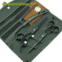 Univinlions 6 Professional Hair Scissors Hairdressing Tools Barber Equipment Kit Hair Cutting Shears Salon Products Coiffure