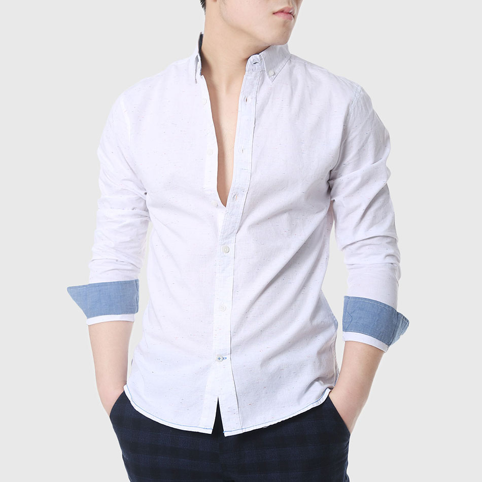 Aliexpress.com : Buy Mens Slim Fitted Shirts Social Men Casual ...