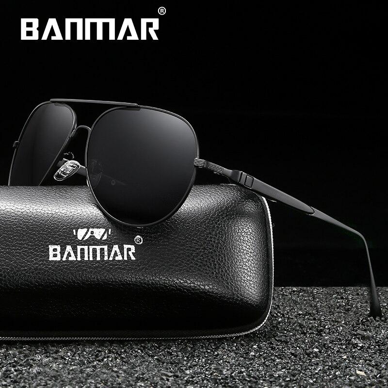 BANMAR Fashion Polarized Sunglasses Men Luxury Brand Designer Vintage Driving Sun Glasses Male Goggles Shadow UV400 in Men 39 s Sunglasses from Apparel Accessories