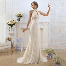 100% Real Photo 2016 Greek Style Elegant Ivory High Neck Beaded Off Shoulder Beach Wedding Dresses Simple Vestidos De Noiva LM66