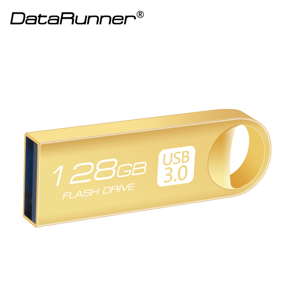 New DataRunner USB Flash Drive 128GB Usb Stick 3.0 Pen Drive 16GB 32GB 64GB Waterproof Mini Pendrive With Logo Customize