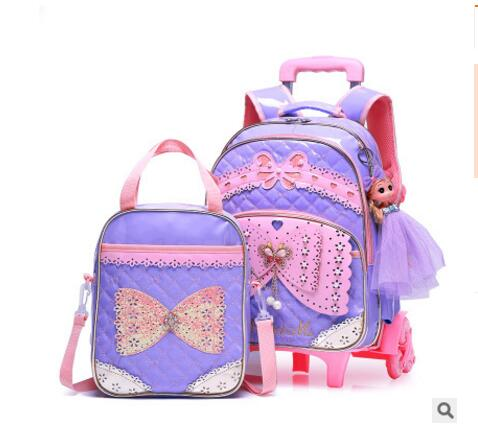 Student School Bag On wheels Children luggage Rolling Bags wheeled  Backpacks bag for Girls Travel Trolley backpack bags for kidStudent School Bag On wheels Children luggage Rolling Bags wheeled  Backpacks bag for Girls Travel Trolley backpack bags for kid